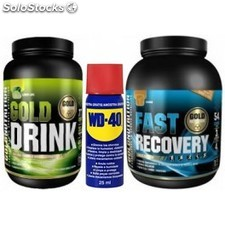 Pack WD-40 Aceite Multiuso 25 ml + Gold Nutrition Gold Drink 1 kg + Fast