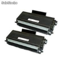 Pack x 2 cartuchos toner compatible brother tn580/dcp8060