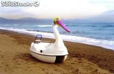 Paddle boats, pedal boats, pedalos, tretboote, beach accessories ...