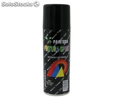 Paintusa - Bote de pintura en spray negro satinado SA01 200 ml