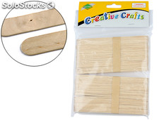 Palillo para manualidades madera color natural 15 x 2 cmblister de 100 unidades
