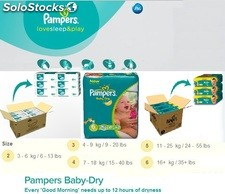 Pampers New Baby and Pampers Baby Dry all sizes