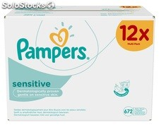 Pampers Sensitive Refill Pack Giga 12 x Packs of 56 (672 Wipes).