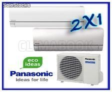 PANASONIC 2X1 Multi-split ETHEREA KIT-2E77-NBE