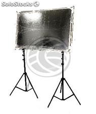 Panel reflector difusor rectangular de 100x150mm desmontable con soporte (ER49)
