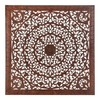 Panel talla marron antic