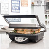 Panini Grill Chef Master Kitchen, acabado en acero inoxidable, superficie