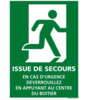 Panneau luminescent - Issue de secours