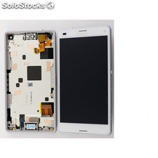 Pantalla LCD Display + Tactil con Marco Sony Xperia Z3 Compact Mini D5803, D5833