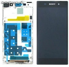 Pantalla lcd + tactil completa con marco Sony Xperia Z1 C6902 C6903 Blanca
