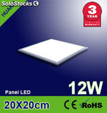 Pantalla led luz fria panel led 12w 200x200x12.5mm 750lm