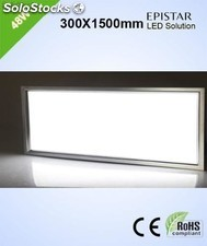 Pantalla led luz fria panel led 48w 4000lm 300x1500mm