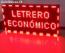 Pantalla LED programable electrónica, LED Signs 64x32 cm Rojo
