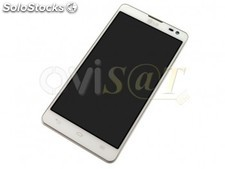 Pantalla LG Optimus L9 2, D605, de color blanco.