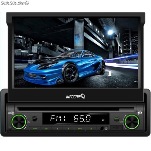 "Pantalla motorizada 7"" dvd usb,sd bluetooth"