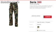 Pantalon camuflaje multibolsillo airsoft