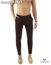 Pantalón chino divaro skinny fit color burdeos 0a9b114ab16d