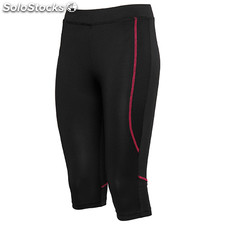 Pantalon Court Femme noir/rosacé sport collection