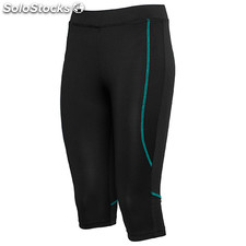 Pantalon Court Femme noir/vert emeraude sport collection