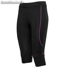 Pantalon Court Femme noir/violet sport collection