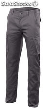 Pantalon multibolsillos stretch gris 46