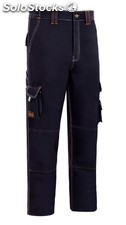 Pantalon Trabajo T40 Alg Az/Mar Stretch Triple Costura Mltib