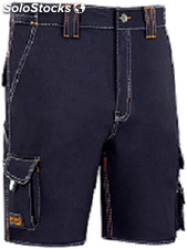 Pantalon Trabajo T42 Corto Alg Az/Mar Stretch Triple Costura