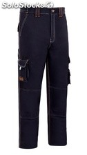 Pantalon Trabajo T44 Alg Az/Mar Stretch Triple Costura Mltib