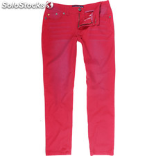 Pantalones 5 pockets usa tif red - red