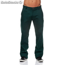 Pantalones chinos urban classics verde oscuro - the indian face - 8433856038675