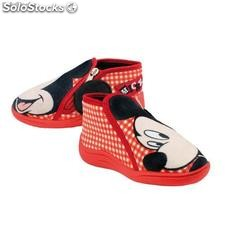 Pantufla Media Bota Mickey Mouse (Roja)
