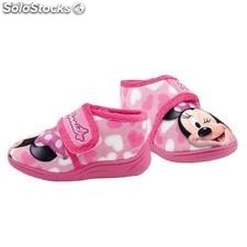 Pantufla Media Bota Minnie Mouse