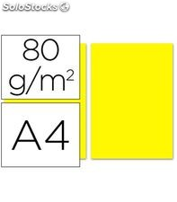 Papel a4 100h 80grs amarillo liderpapel pc48 28258