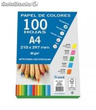 Papel a4 100h 80grs verde intenso dohe 30167