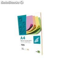 Papel a4 100h color fluorescente surtido liderpapel pc45