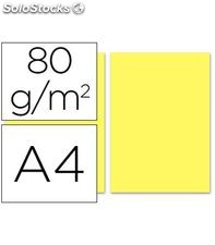 Papel a4 500h 80grs amarillo liderpapel 282735