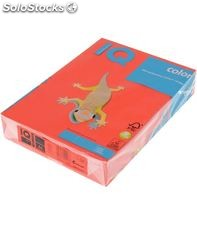 Papel a4 500h 80grs rojo coral neusiedler idealquality 40087 155946