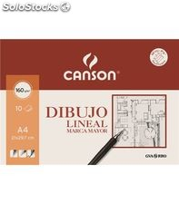 Papel dibujo lineal liso a4 10h 160grs marca mayor guarro 04