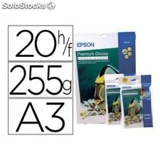 ✅ papel epson premium glossy pho to paper A3 (20HOJAS) 255GR. 255 gr.