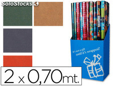 Papel fantasia colores lisos kraft rollo de 2x0,70 mt papel de 60 grs