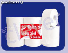 Papel higienico industrial gofrado 140Mx85MM
