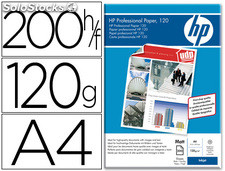 Papel hp profesional para inkj et 120 mate, a4 (200hojas) 120 gr.