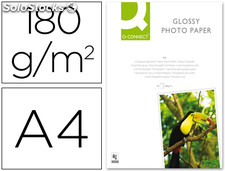 Papel q-connect foto glossy din a4 alta calidad digital photo - ink-jet