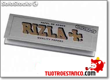 Papel RIZLA + Plata (ultra fino) 78mm