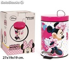Papelera disney minnie metal 3L con pedal