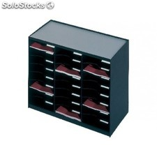 Paperflow monoblock 24 casillas A4 negro 802.01