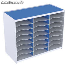 Paperflow monoblock 24 casillas para formato a4 apilable 548x674x308 mm color