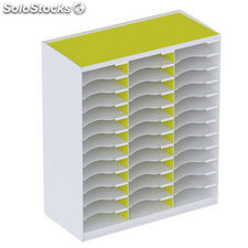 Paperflow monoblock 36 casillas para formato a4 apilable 548x674x308 mm color