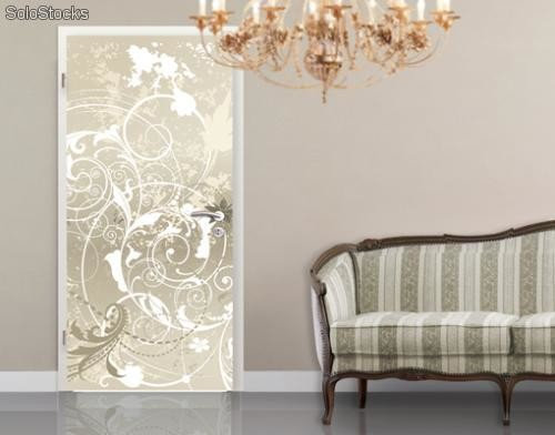 papier peint pour porte avec colle mother of pearl. Black Bedroom Furniture Sets. Home Design Ideas