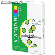 Paquete folios papel A4 100gr alta calidad Inacopia Elite Colour Plus